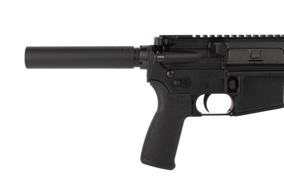 Radical Firearms 300 BLK 8.5in AR pistol is equipped with ambidextrous safety selector, enhanced magazine release, and pistol buffer tube