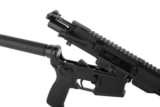 Radical 8.5in 300 BLK AR15 pistol featuers an M16 cut bolt carrier group and standard MIL-SPEC charging handle