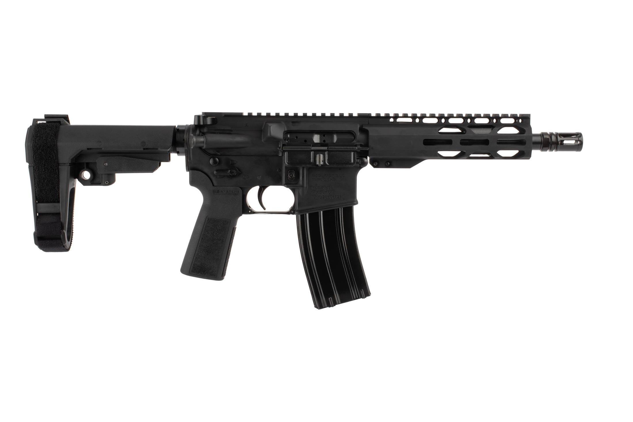 The Radical Firearms 300 blk pistol features an 8.5 inch barrel and RPR M-LOK handguard