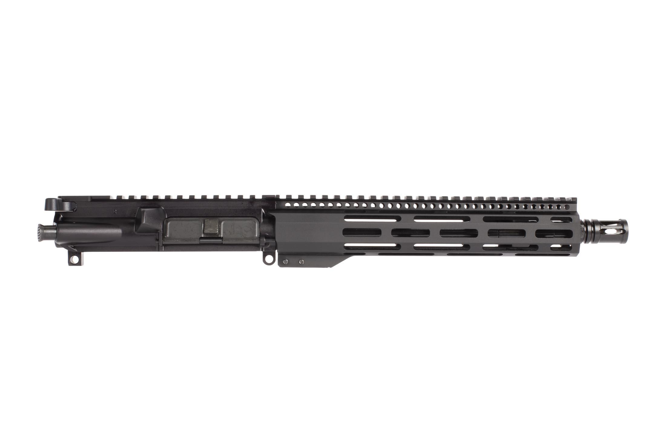 Radical Firearms 10.5in complete AR-15 pistol upper in 5.56 NATO is threaded 1/2x28 with an effective A2 flash hider.
