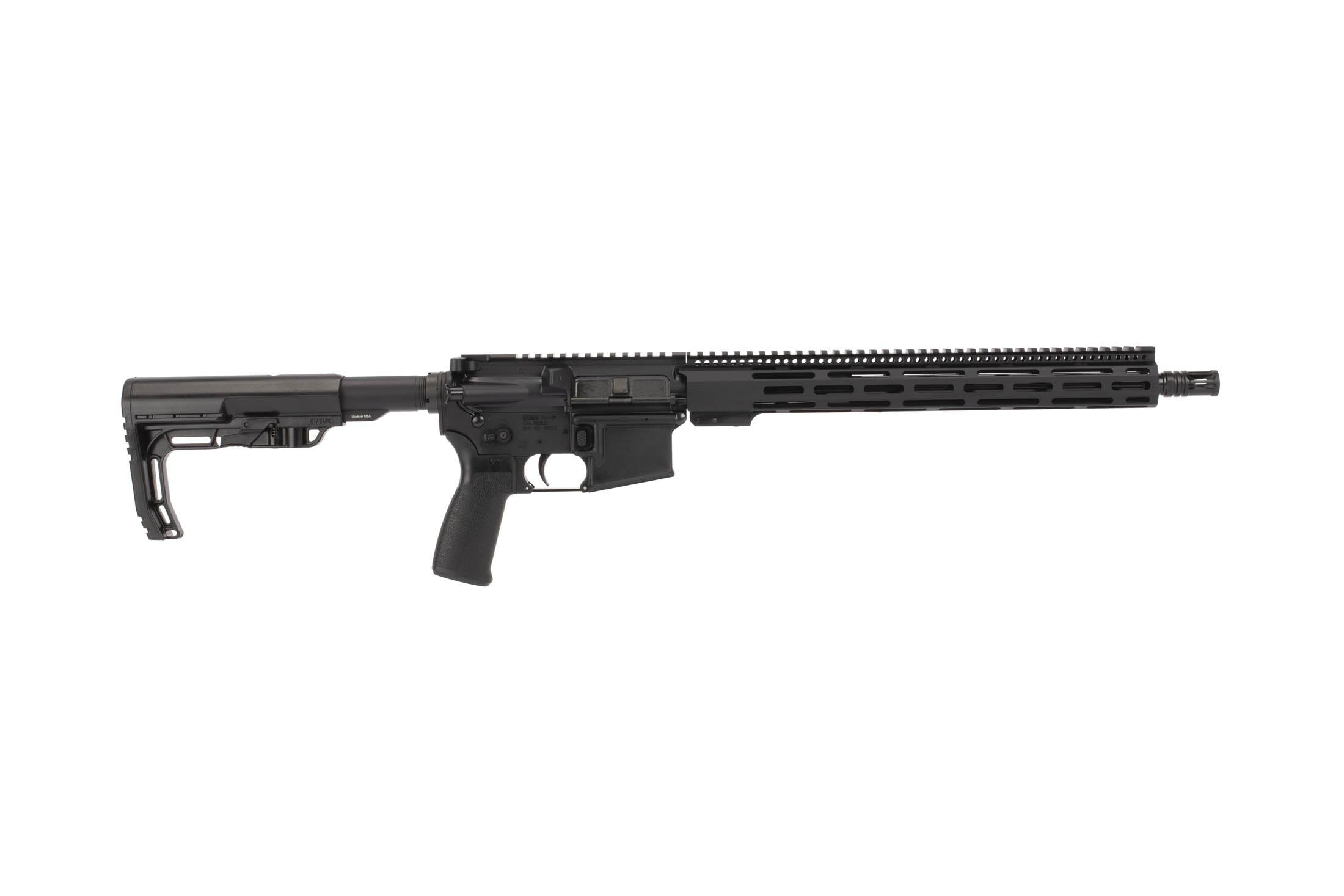 Radical Firearms 16in 300BLK AR-15 rifle with M-LOK handguard, Mission First Tactical pistol grip, and minimalist stock