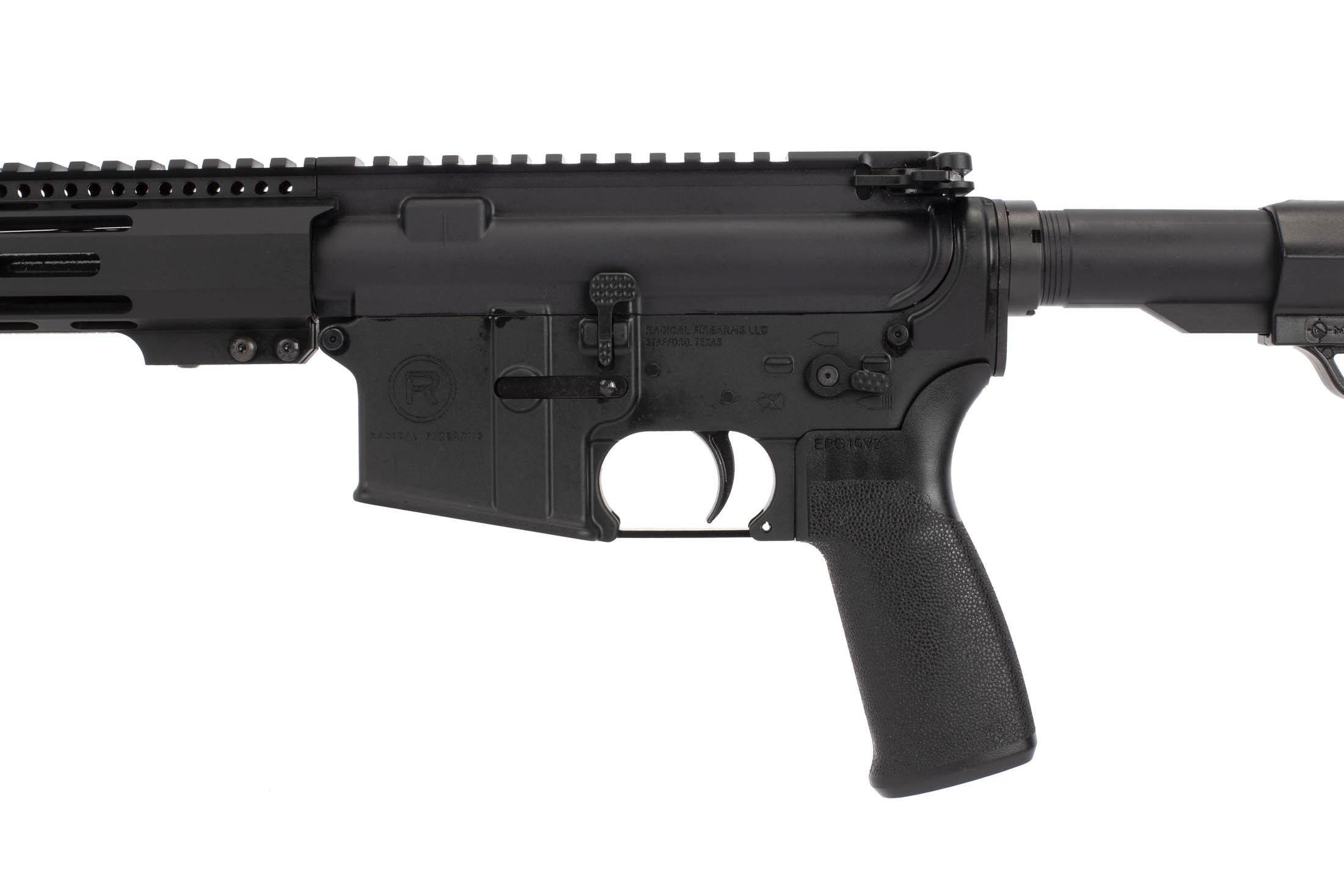 Radical Firearms 16in 300 BLK AR-15 rifle uses an enhanced bolt release and standard charging handle