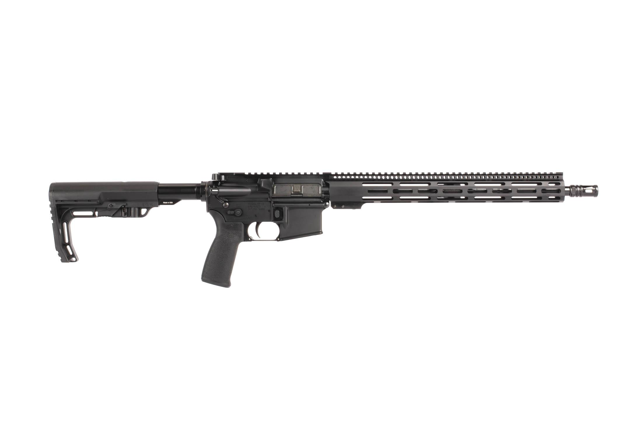 The Radical Firearms 16 inch 5.56 NATO 1:7 twist barrel Carbine Length M4 AR-15 Rifle with battlelink minimalist stock