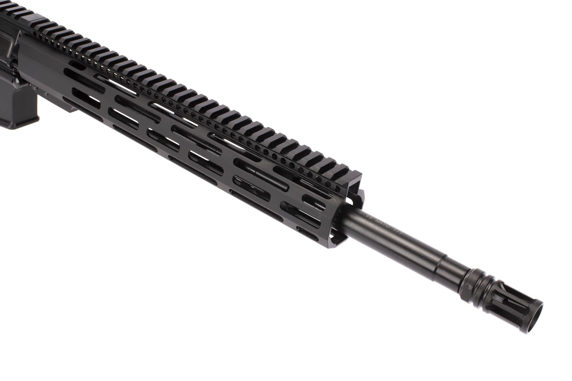 Radical Firearms 16in 5.56 NATO AR-15 with mid-length gas system has 1/2x28 threading and an effective A2 flash hider