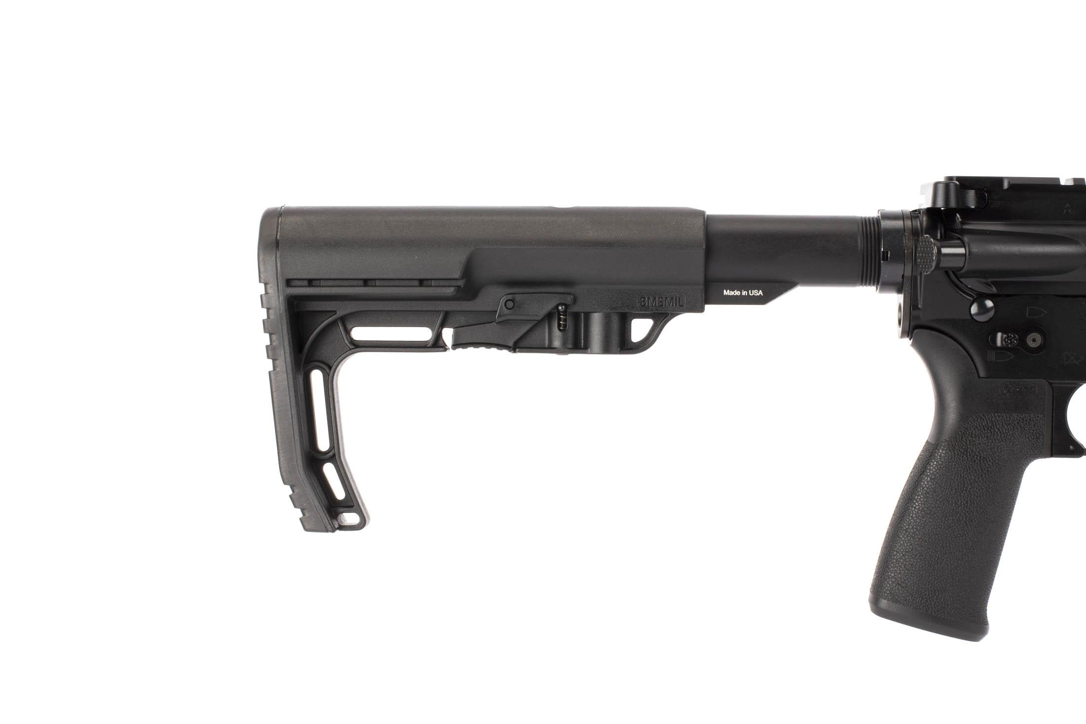 Radical Firearms 5.56 NATO SOCOM 16in AR-15 with a Mission First Tactical Minimalist carbine stock