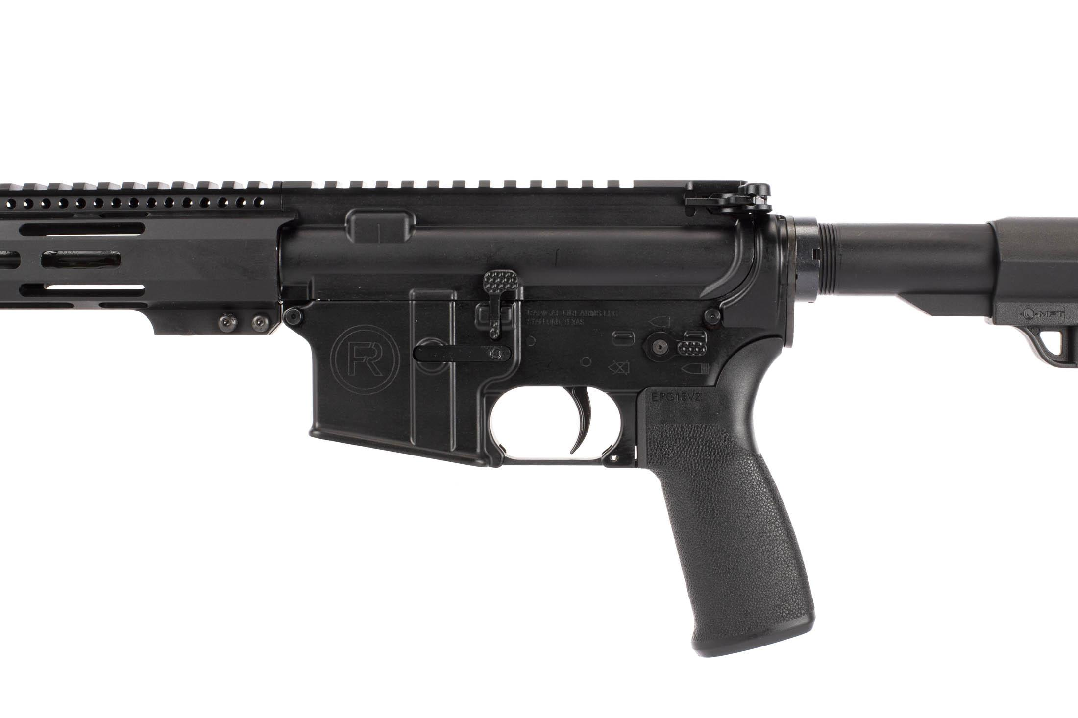 Radical Firearms 16in 5.56 NATO AR-15 features an enhanced bolt catch for easy manipulations