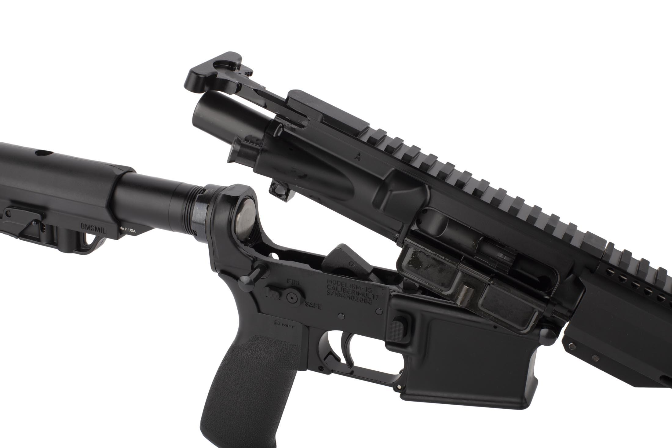 Radical 16in 7.62x39mm AR15 featuers an M16 cut bolt carrier group and standard MIL-SPEC charging handle