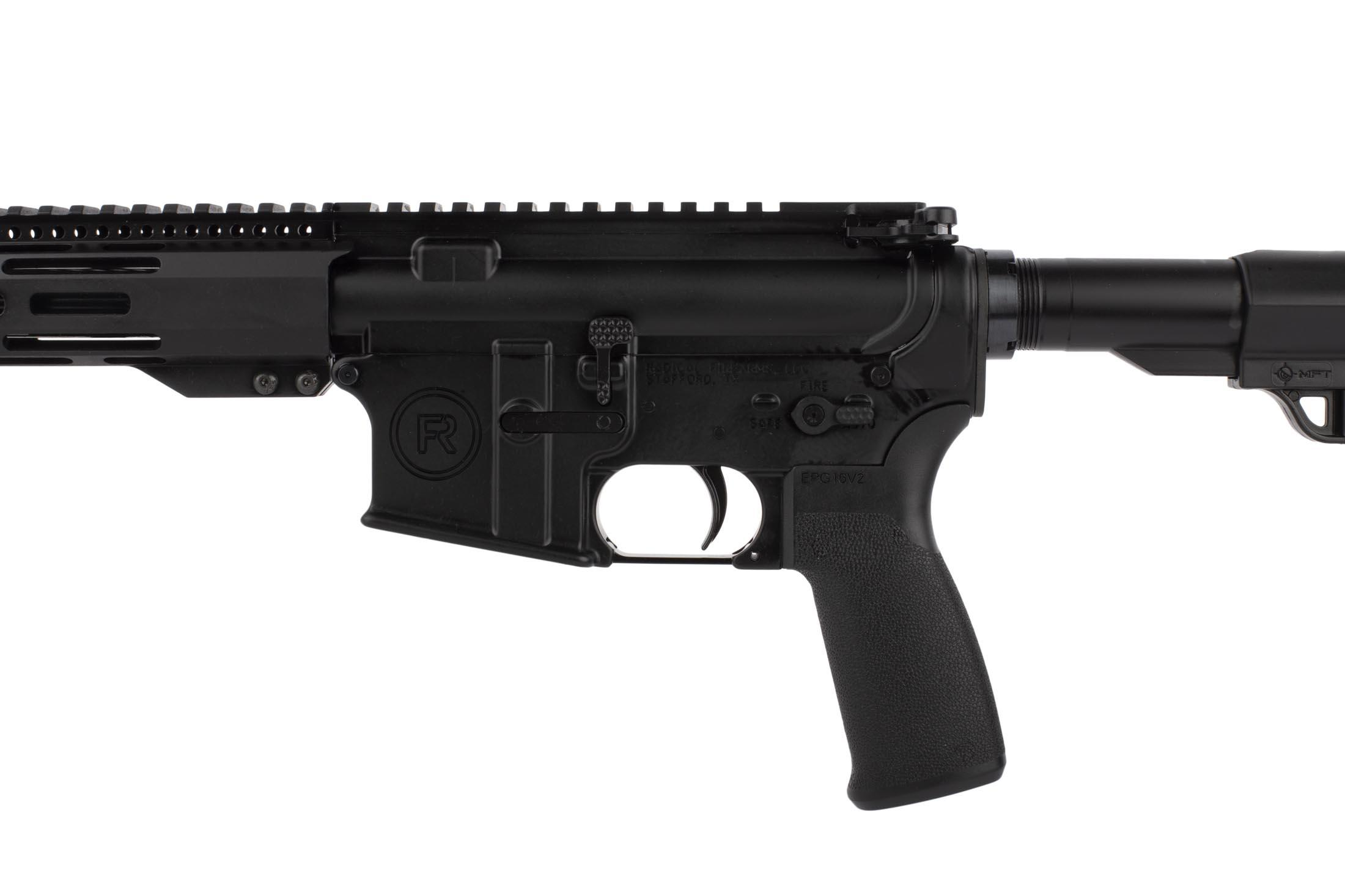 Radical Firearms 7.62x39mm 16in AR is equipped with ambidextrous safety selector, enhanced magazine release, and carbine stock