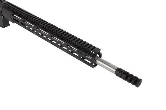 Radical Firearms .223 Wylde AR with 18in barrel is threaded 1/2x28 and topped with an effective A2 flash hider