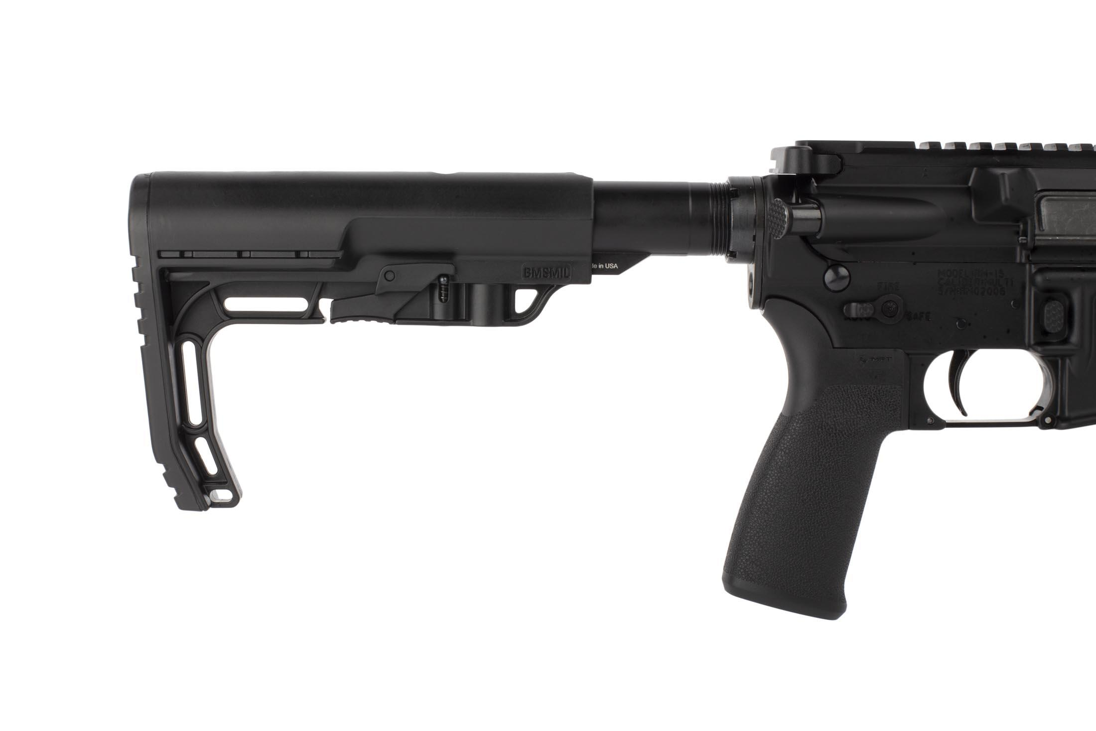 Radical Firearms .223 Wylde 18in AR is equipped with ambidextrous safety selector, enhanced magazine release, and carbine stock