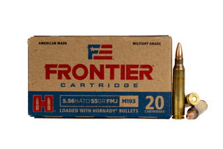 Hornady Frontier 55-grain 5.56 NATO takes Hornady's top quality bullets combined with Lake City's MIL-SPEC components and production capacity