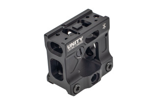 Unity Tactical FAST Mount for the Aimpoint Micro T1 and compatible red dot sights with integrated back up sights
