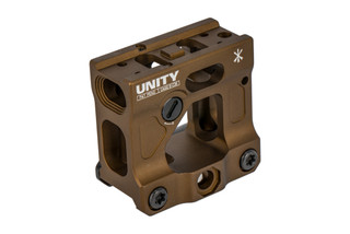 Unity Tactical FAST Aimpoint Micro Mount features an FDE finish