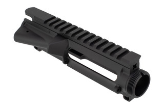Luth AR stripped AR-15 upper receiver is machined from high-strength 7075-T6 aluminum forgings with a durable anodized finish