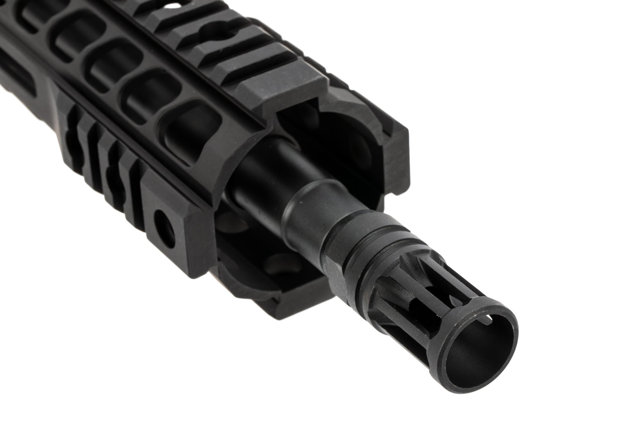 The Radical Firearms barreled upper receiver features an A2 style compensator