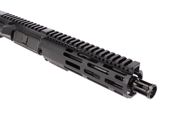 Radical Firearms 7.5in 5.56 NATO AR-15 barreled upper receiver has 1/2x28 threading and an A2 flash hider