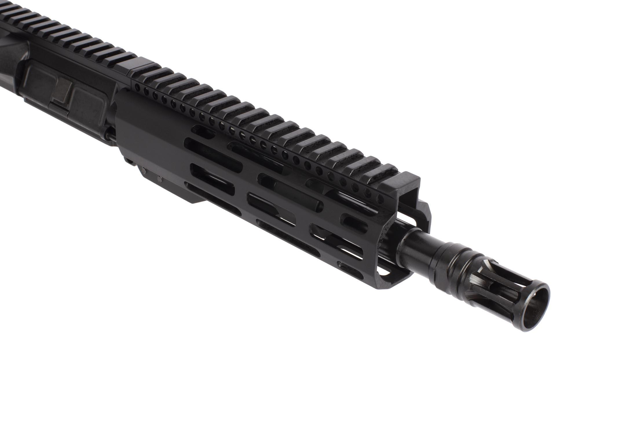 Radical Firearms barreled 8.5in 300 BLK free float upper receiver is threaded 5/8x24 with an effective A2 flash hider
