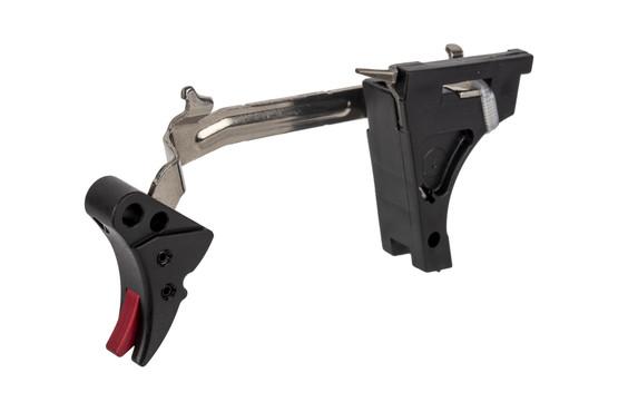 Zev Technologies Fulcrum Adjustable Glock Trigger Gen1-3 10mm Drop-In Kit -  Black/Red