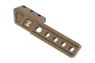 The Unity Tactical LightWing Features a flat dark earth finish and is made from 6061-T6 aluminum
