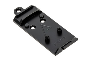 Agency Arms AOS Glock Slide Optic Cover Plate for Leupold DeltaPoint PRO. Forward Sight cut.