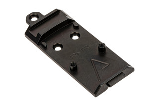 Agency Arms AOS Glock Slide Optic Cover Plate for Trijicon RMR. Forward Sight cut.