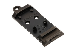 Agency Arms AOS Glock Slide Optic Cover Plate for Shield RMS. Standard cut.