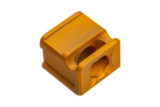 Glock gen 3 SPARC-M Compensator by Arc Division features a gold anodized finish