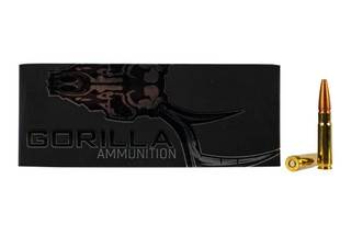 Gorilla 300 Blackout Pig Punisher ammo features a 115gr Lehigh Defense Controlled Chaos bullet