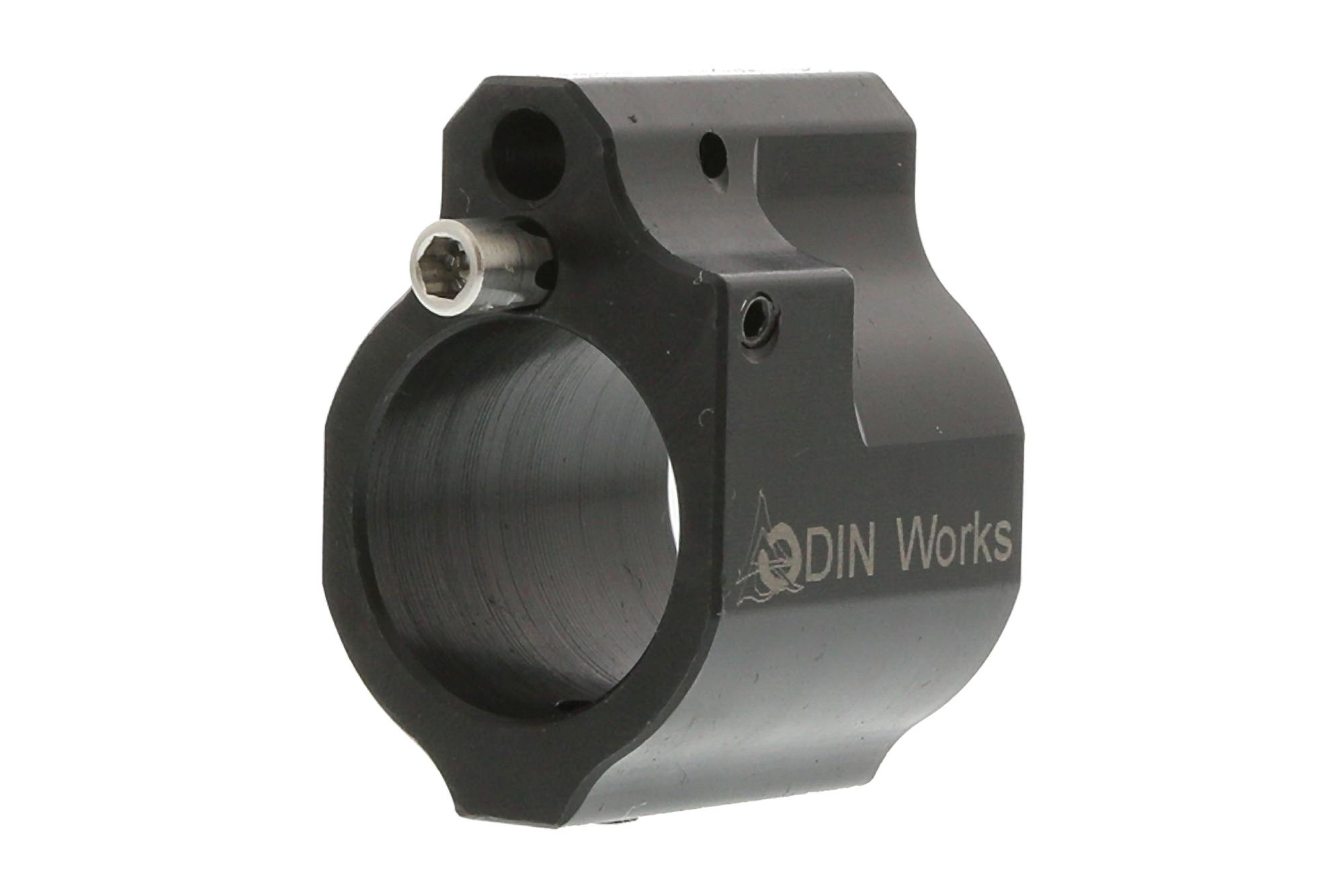 The Odin Works low profile adjustable gas block .750 attaches with the set screw method