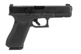 Glock Blue Label G17 Gen 5 MOS 9mm handgun with 17-round magazines and Ameriglo sights.