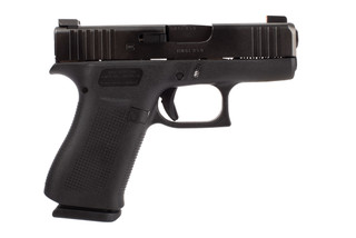 Glock Blue Label G43X 9mm handgun with 10-round magazines and Ameriglo Bold sights