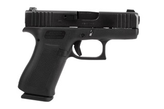 Glock Blue Label G43X 9mm handgun with 10-round magazines and night sights sights