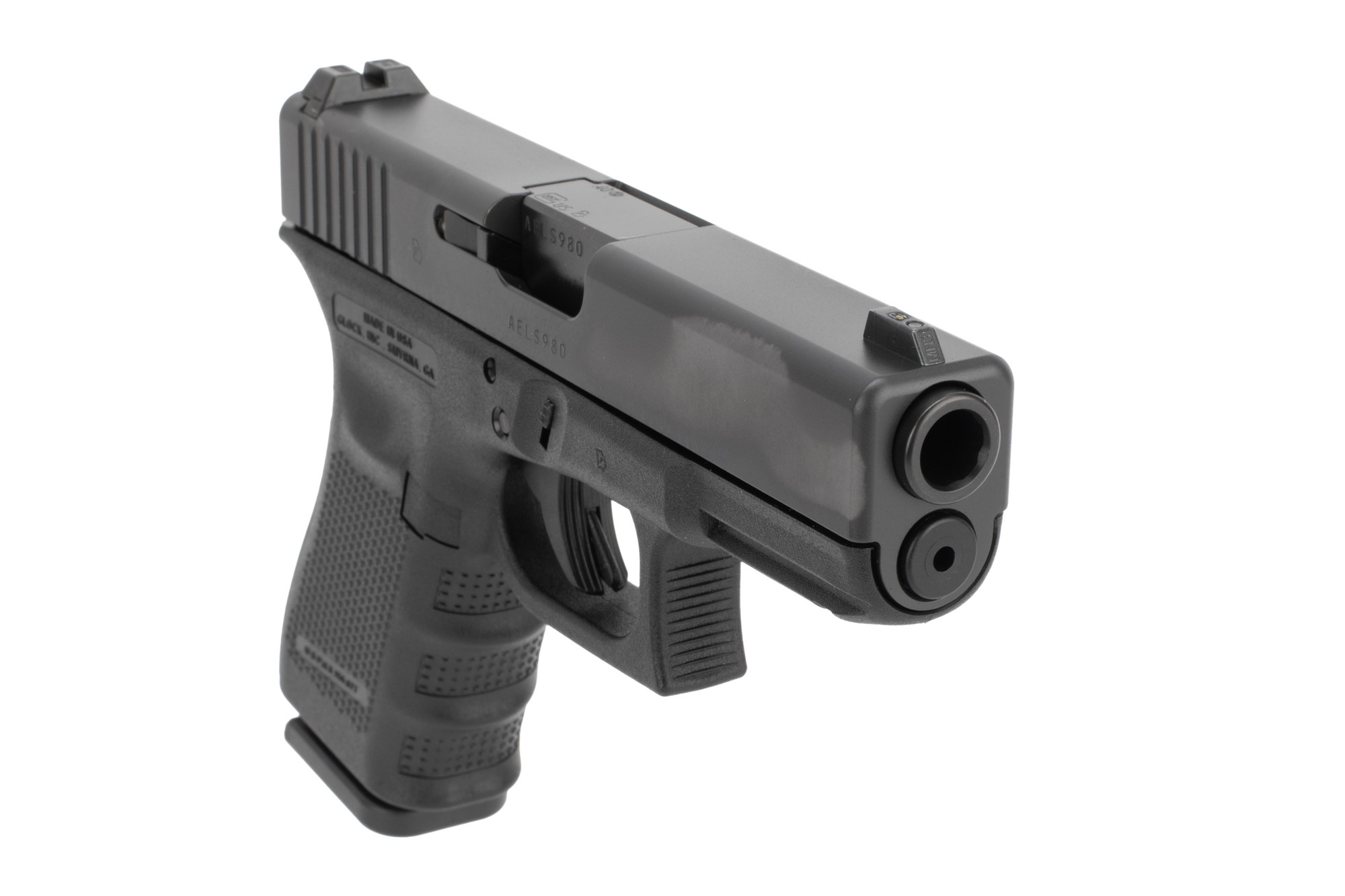 Glock 23 Blue Label Pistol is chambered in 40 S&Ws
