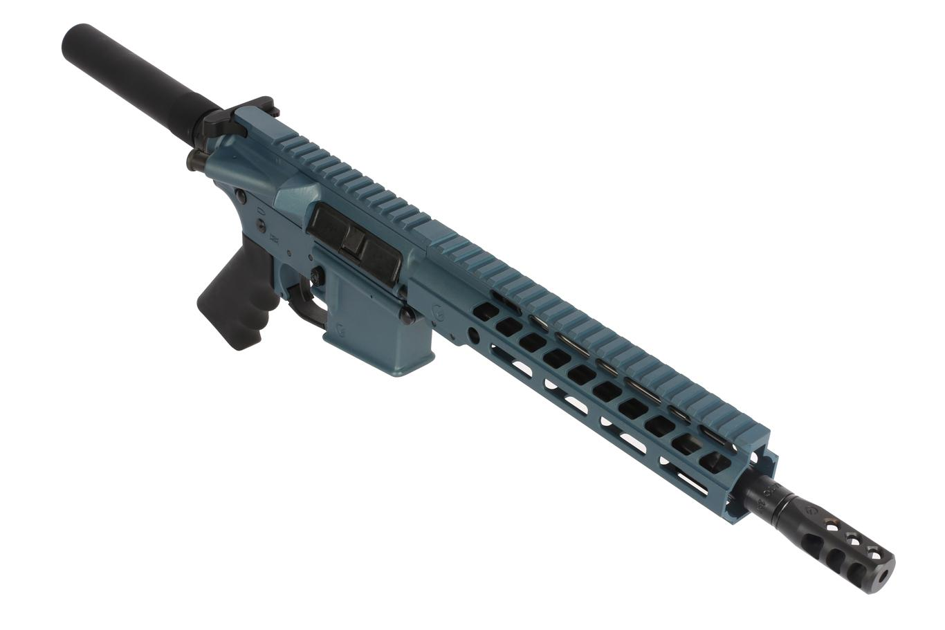 The Ghost Firearms AR15 Pistol with 10.5 inch 5.56 nato Barrel has a 9 inch m-lok handguard