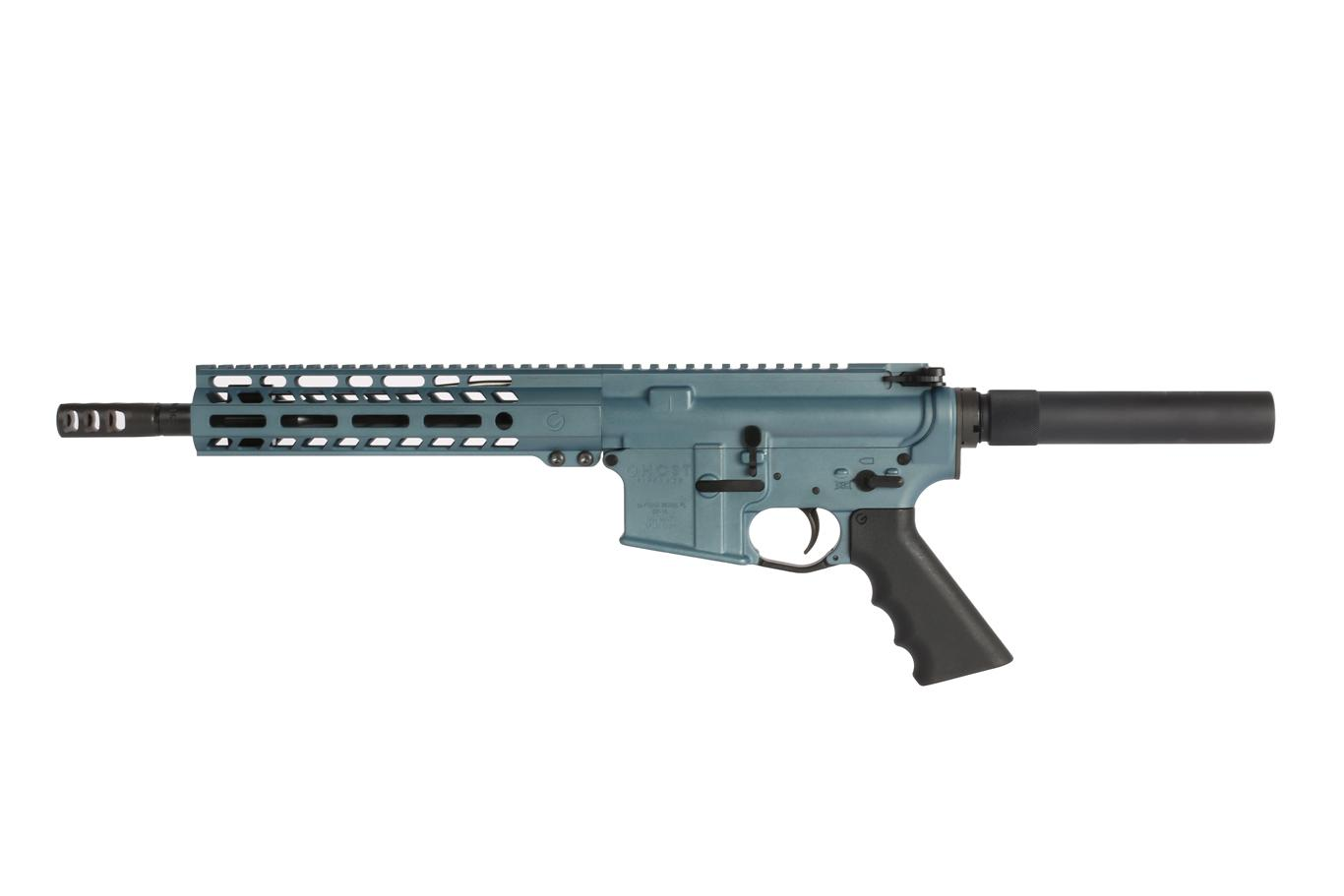 This 10.5 ar 15 pistol with axe muzzle brake from Ghost Firearms has an ergonomic ghost pistol grip