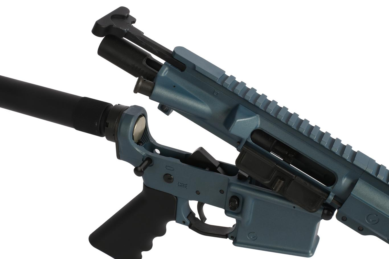 This 10.5 ar 15 pistol with M-LOK free float handguard comes with Mil-Spec charging handle and bcg
