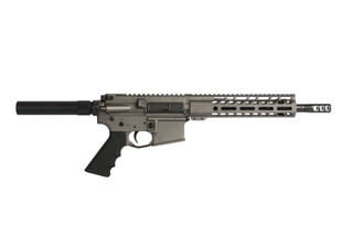 The Ghost Firearms ar-15 pistol has a 10.5 inch barrel and m-lok compatible free float handguard