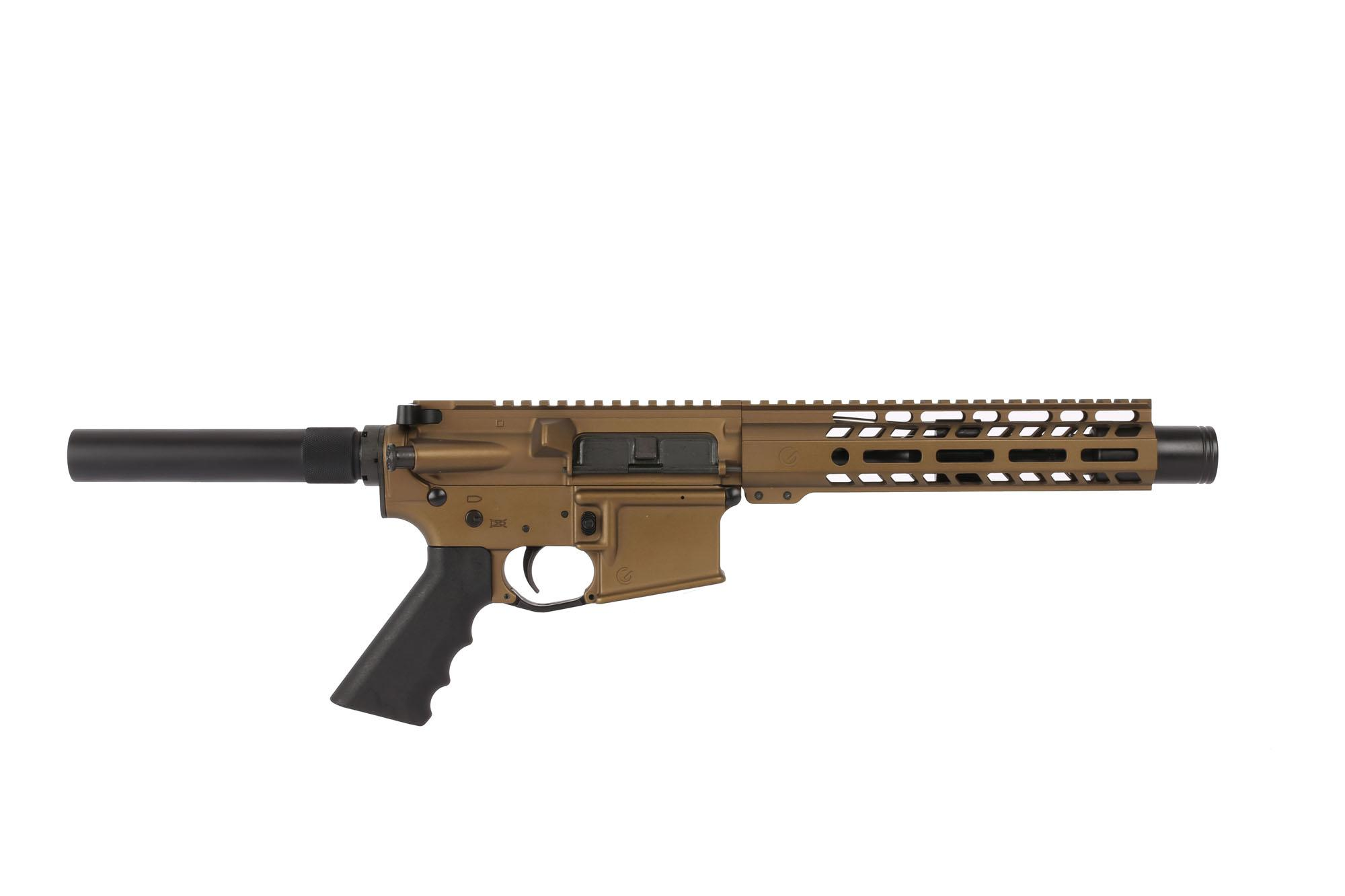 Ghost Firearms 7.5in 5.56 NATO 1:7 Carbine Length AR-15 Pistol with Flash Can - Burnt Bronze Cerakote
