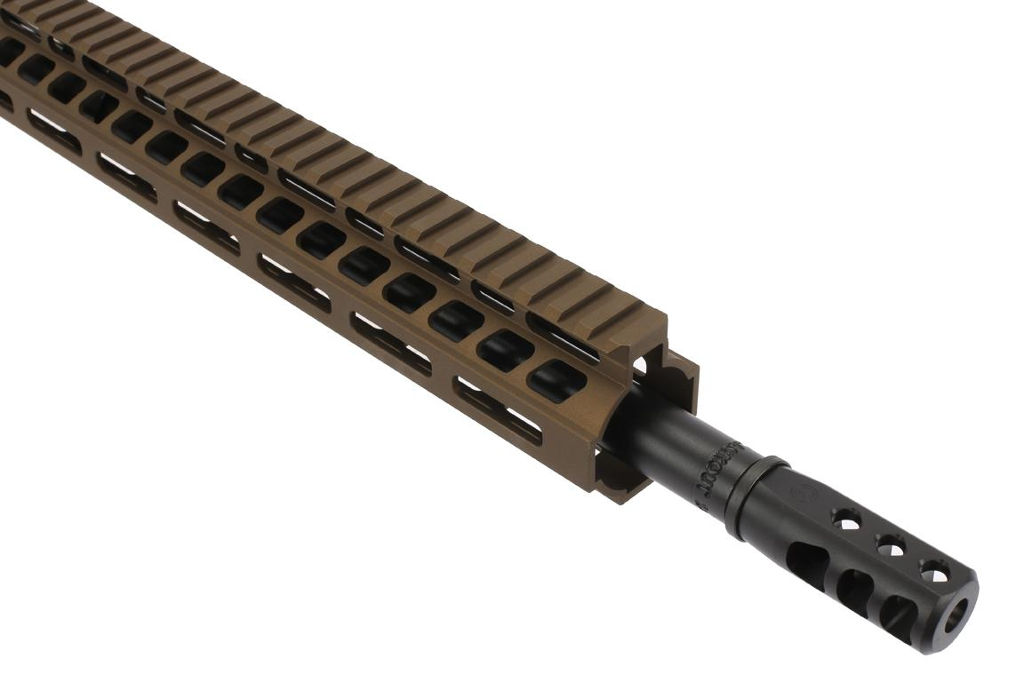 The Ghost Firearms .300 blackout elite AR kit with Axe muzzle brake has a 1-8 twist rate