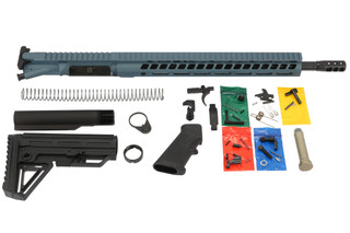 The Ghost Firearms blue titanium 300 blk elite rifle kit comes with everything you need to build an AR15