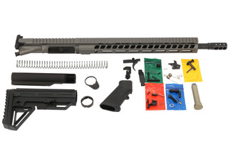 The Ghost Firearms 300 blk elite rifle kit in tungsten gray Cerakote finish comes with everything to build an AR15