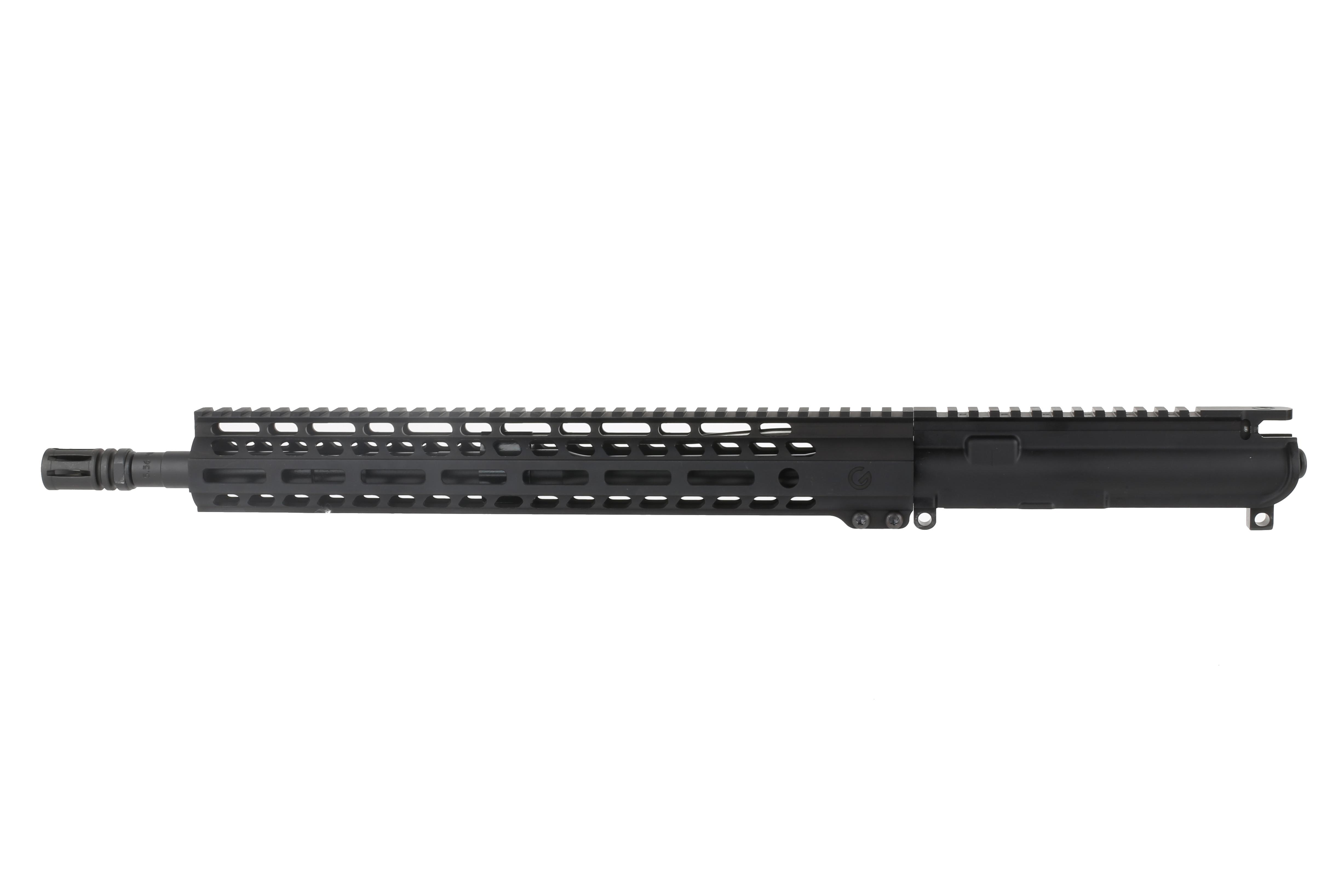 The 5.56 ar-15 barrel included in this kit is made from 4150 chrome moly vanadium steel and has an a2 flash hider