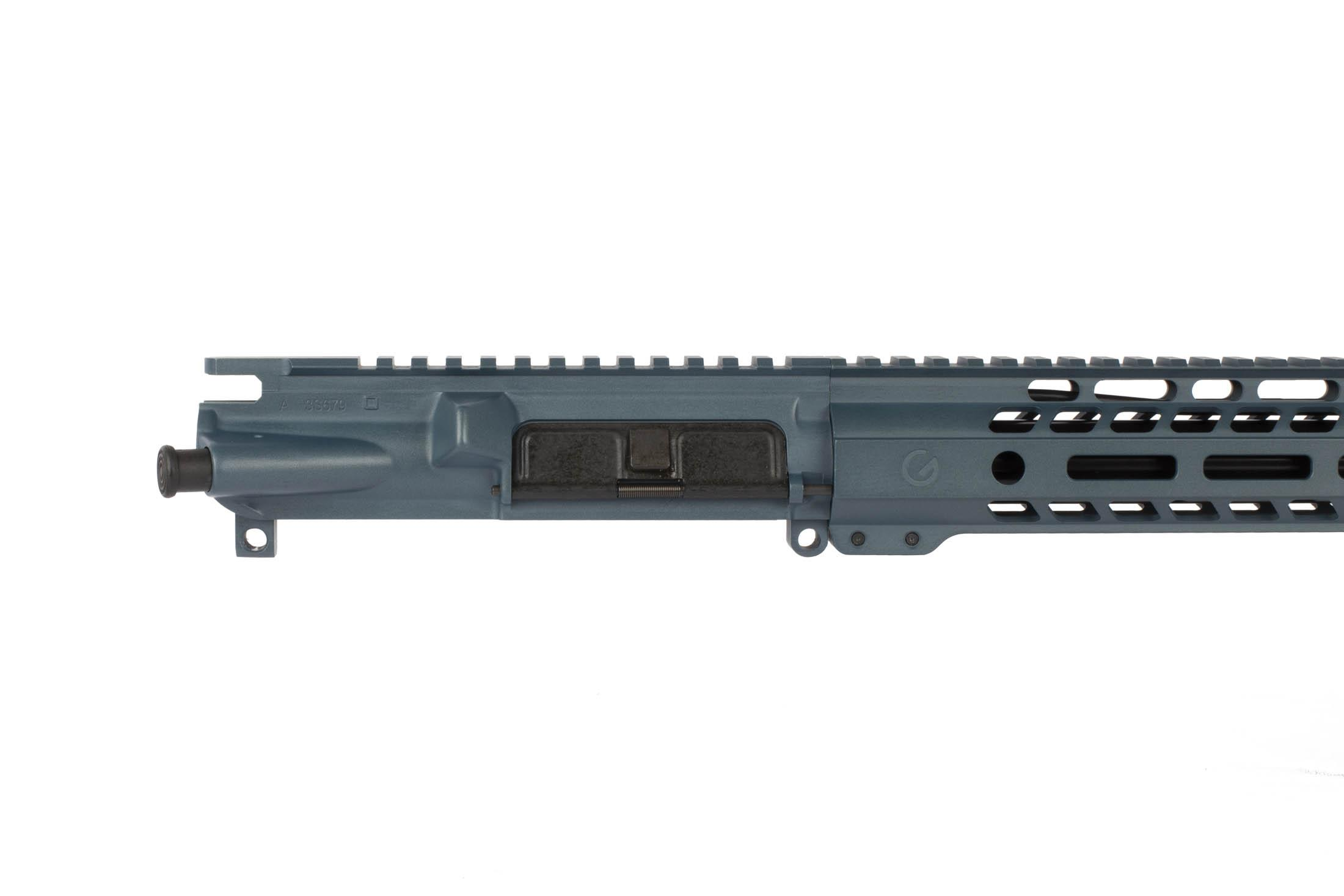 This Ghost Firearms 24 6.5 Grendel 1:8 Elite Rifle Length Barreled Upper is available in Blue Titanium