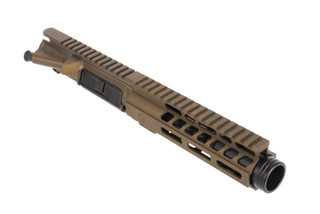 Ghost Firearms 5.5in 9mm AR-15 barreled upper with 7in M-LOK rail and flash can with burnt bronze Cerakoted finish
