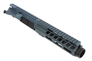 The Ghost Firearms 5.5 inch 9mm 1:10 twist HBAR Elite Barreled Upper reciever includes a 7 inch m-lok hanguard