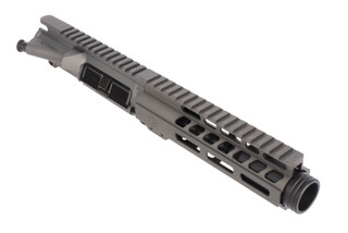 Ghost Firearms 5.5in 9mm AR-15 barreled upper with 7in M-LOK rail and flash can with tungsten gray Cerakoted finish