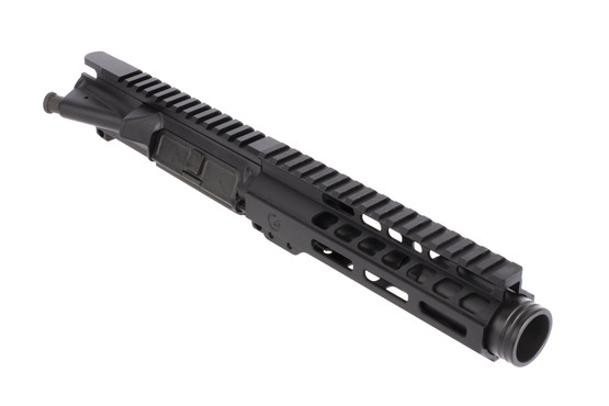 Ghost Firearms 5.5in 9mm AR-15 barreled upper with 7in M-LOK rail and flash can with black anodized finish