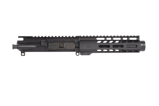 Ghost Firearms black AR9 barreled upper with 5.5 inch 9mm barrel AR15 upper is compatible with Glock magazines