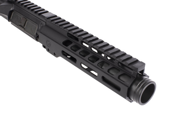 Ghost Firearms black anodized AR9 barreled upper receiver with M-LOK rail has a 5.5in barrel topped with a flash can