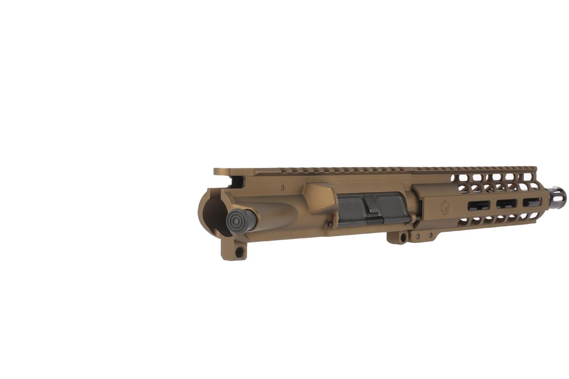 "Ghost Firearms 7.5 9mm 1:10 HBAR Elite Barreled Upper - 7"" M-LOK Rail - Burnt Bronze"